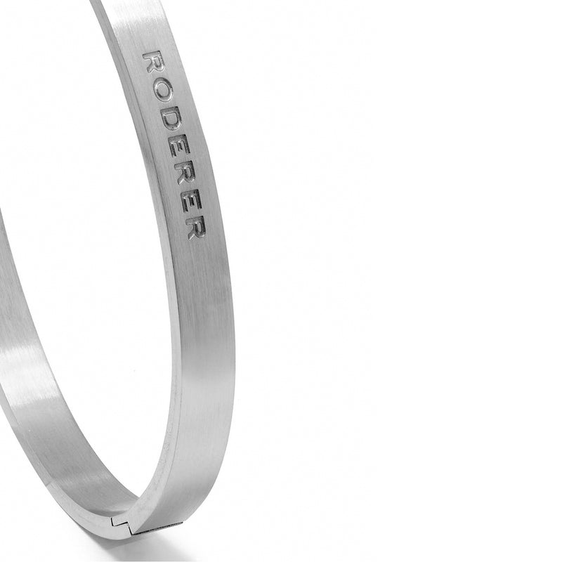 RICCARDO BRACELET > STAINLESS STEEL BANGLE SILVER