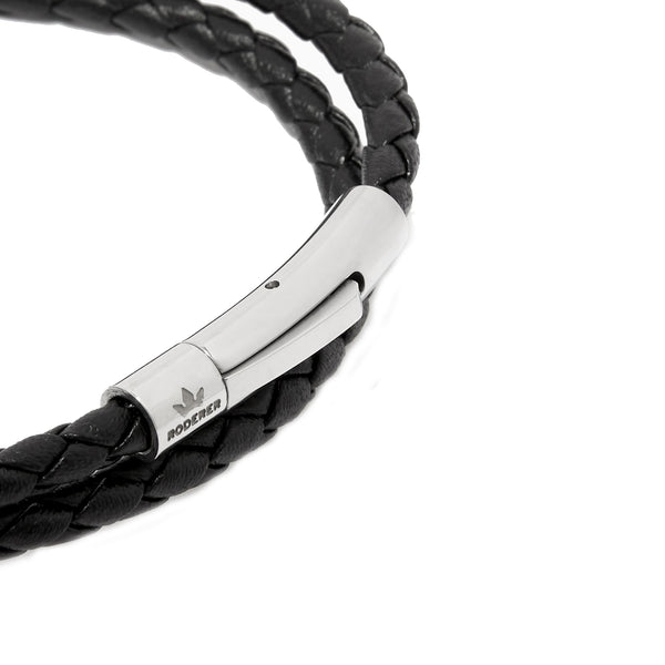 MATTEO DOUBLE TOUR BRACELET > BLACK