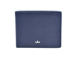 Roderer Bifold 6 Card Trophy Saffiano Navy Blue Money Clip Wallet