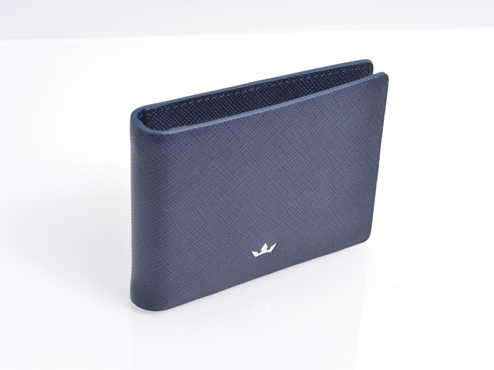 Roderer Trophy Bifold 6 Card RFID Navy Blue Money Clip Wallet