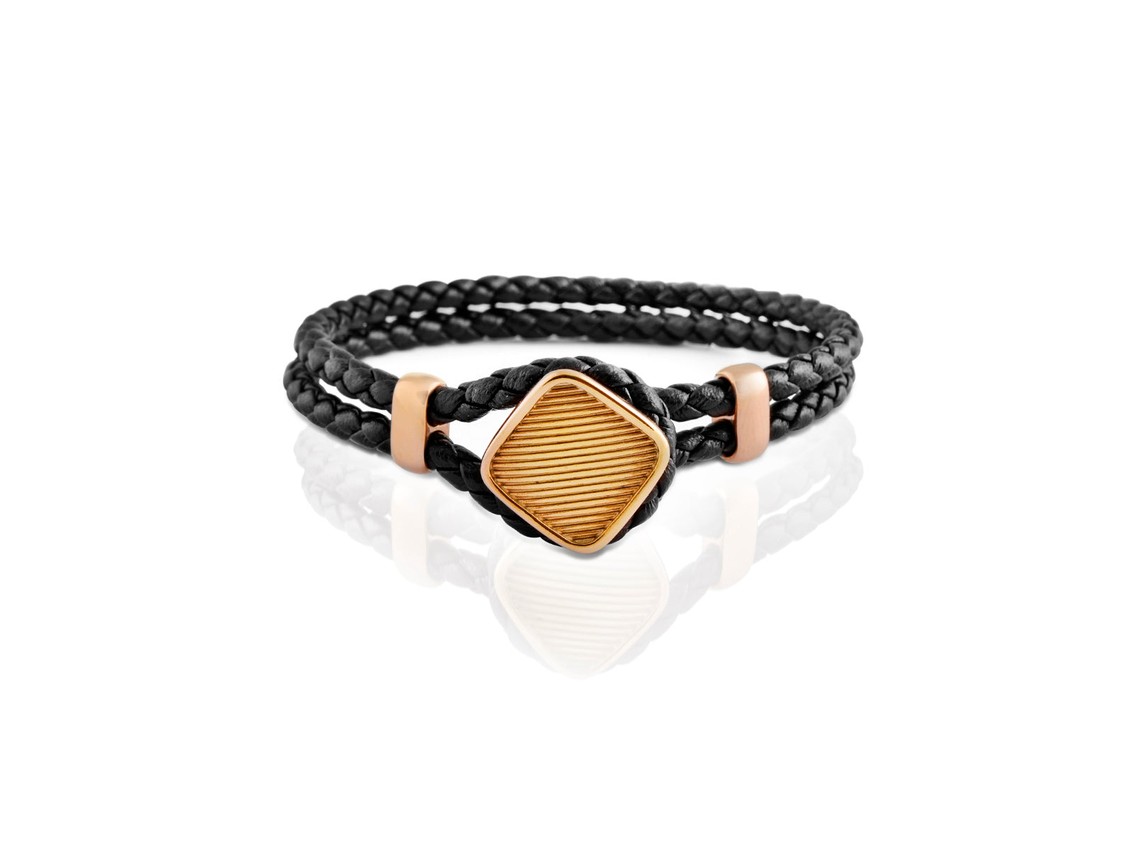 RODERER BRACELET LUCA BLACK / ROSE GOLD