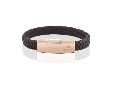 BRACELET LUCA BLACK / ROSE GOLD