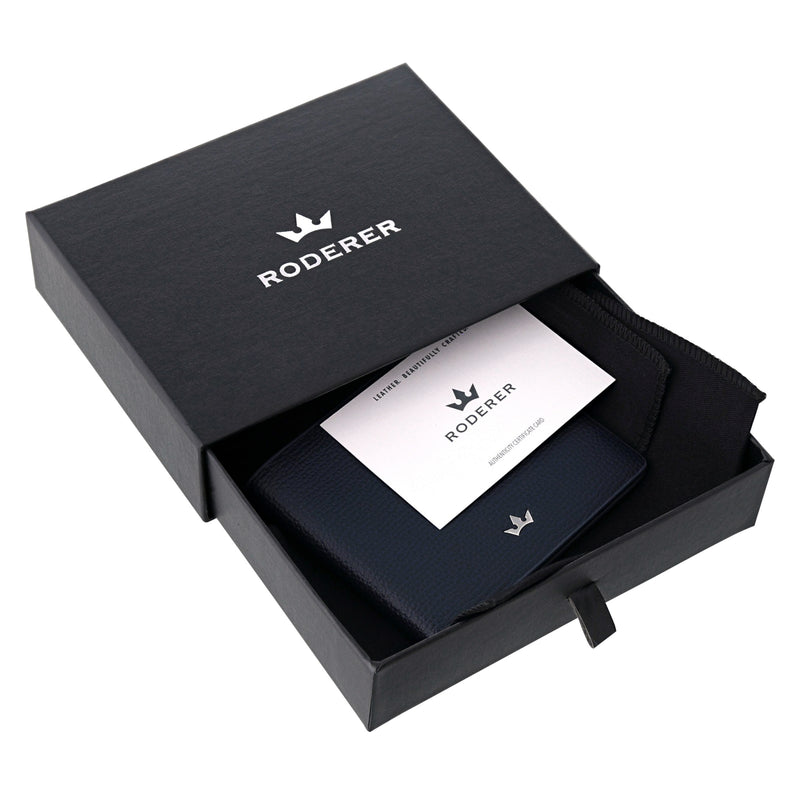 AWARD BUSINESS CARD HOLDER > ITALIAN LEATHER BLACK