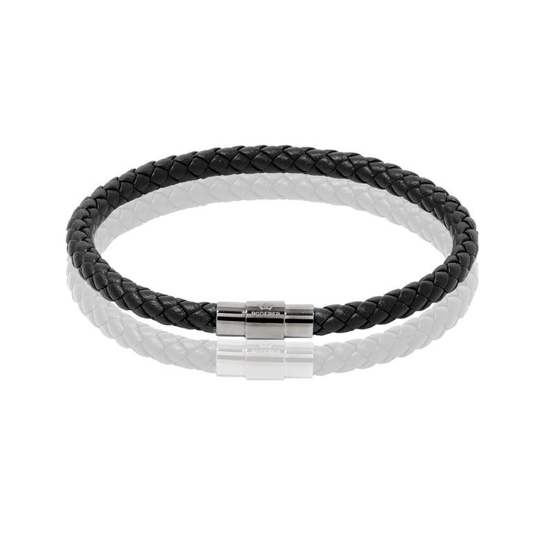SERGIO BRACELET > BLACK ON GUNMETAL CLASP