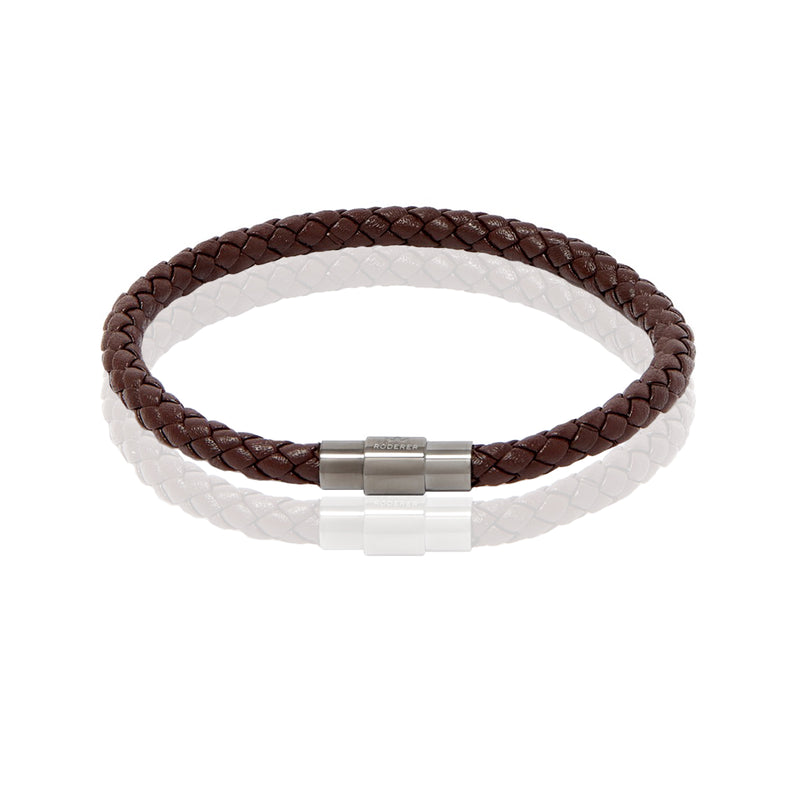 SERGIO BRACELET > BROWN ON GUNMETAL CLASP