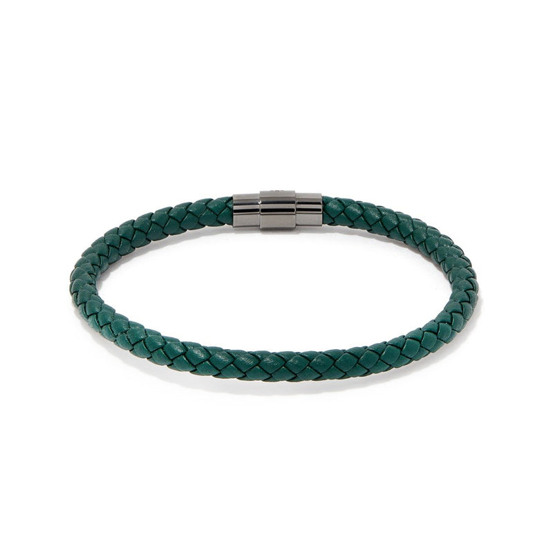 SERGIO BRACELET > GREEN ON GUNMETAL CLASP