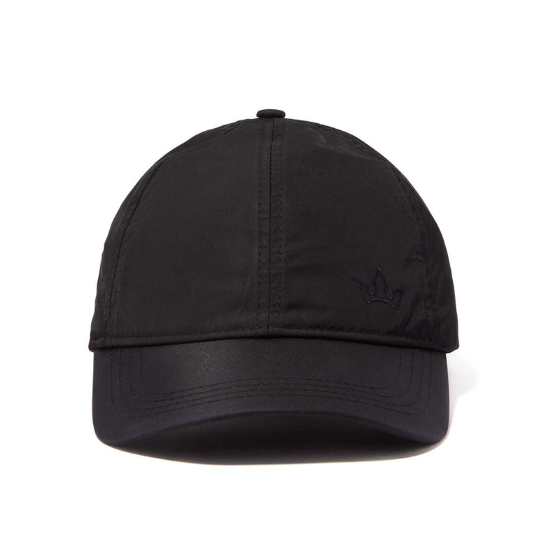 STELLAR NYLON BASEBALL CAP > EMBROIDERED LOGO BLACK