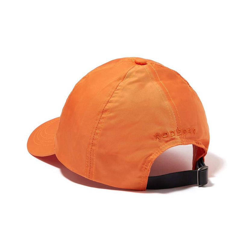 STELLAR NYLON BASEBALL CAP > EMBROIDERED LOGO ORANGE