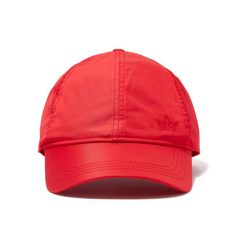 STELLAR NYLON BASEBALL CAP > EMBROIDERED LOGO RED