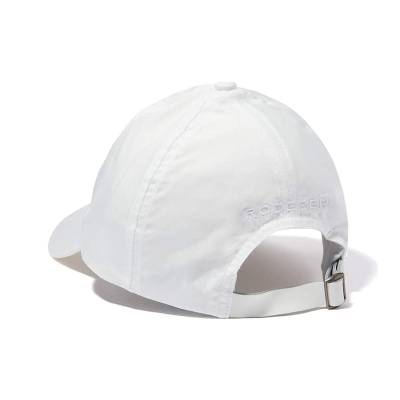 STELLAR NYLON BASEBALL CAP > EMBROIDERED LOGO WHITE
