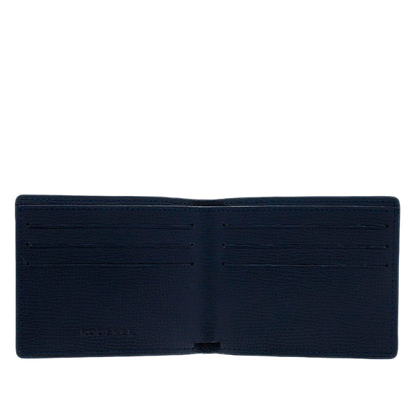 TROPHY 6CC BIFOLD > ITALIAN LEATHER NAVY BLUE