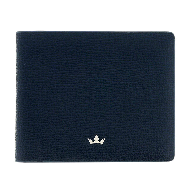 TROPHY 8CC BIFOLD > ITALIAN LEATHER NAVY BLUE