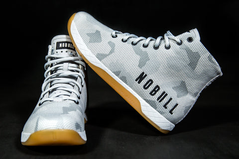 HIGH-TOP WHITE CAMO TRAINER (WOMEN'S)
