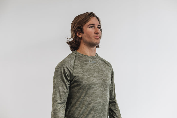 MEN'S LIGHTWEIGHT TEXTURED LONG SLEEVE TEE (CAMO)