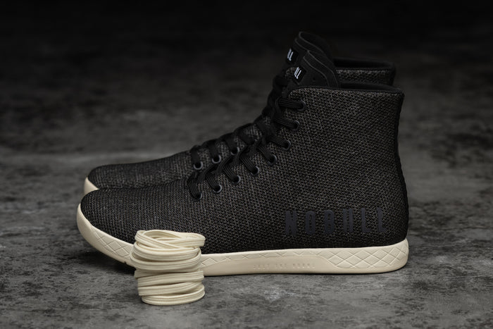 HIGH-TOP BLACK HEATHER TRAINER (MEN'S)