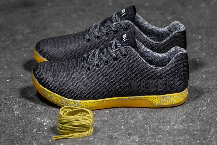 BLACK HEATHER YELLOW TRAINER (MEN'S)
