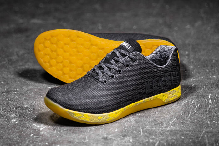 BLACK HEATHER YELLOW TRAINER (WOMEN'S)