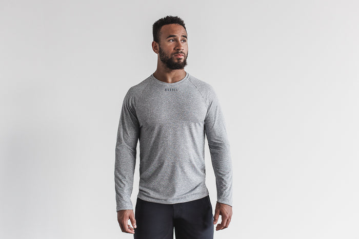 MEN'S TEXTURED LONG SLEEVE TEE
