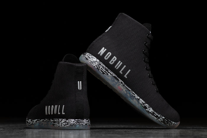 HIGH-TOP BLACK STATIC TRAINER (WOMEN'S)