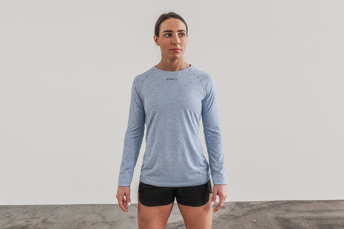 WOMEN'S TEXTURED LONG SLEEVE TEE