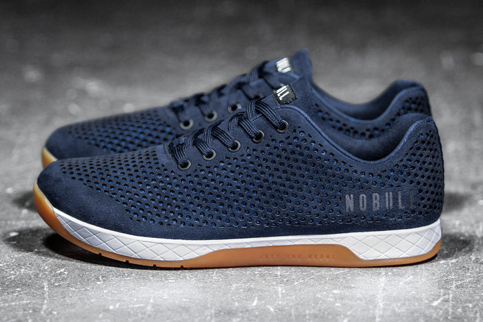 NAVY SUEDE TRAINER (MEN'S)