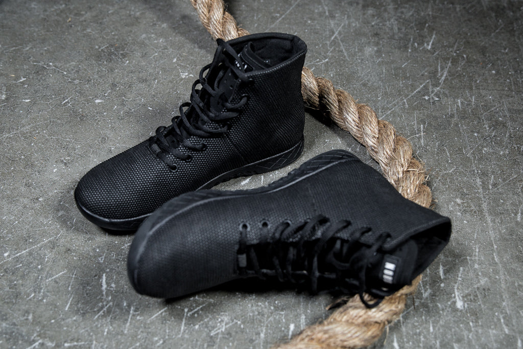 High-Top Black Trainer