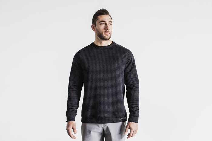 MEN'S QUILTED CREW PULLOVER