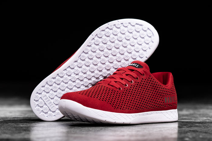 RACING RED SUEDE TRAINER (MEN'S)