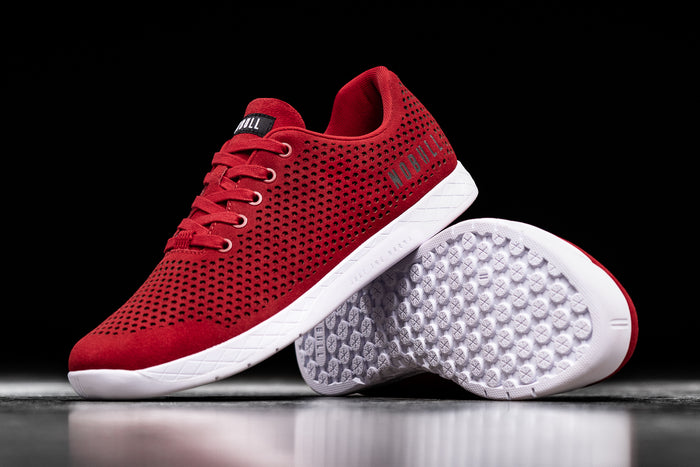 RACING RED SUEDE TRAINER (WOMEN'S)