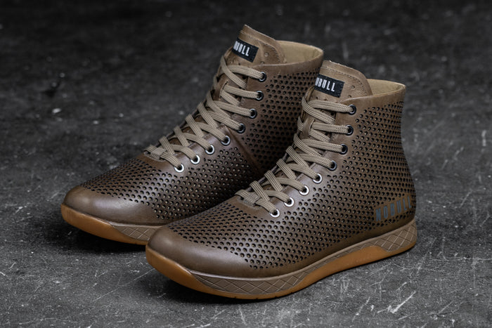 HIGH-TOP SAND LEATHER TRAINER (WOMEN'S)