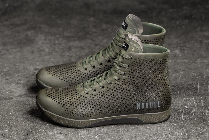 HIGH-TOP MOSS LEATHER TRAINER (WOMEN'S)