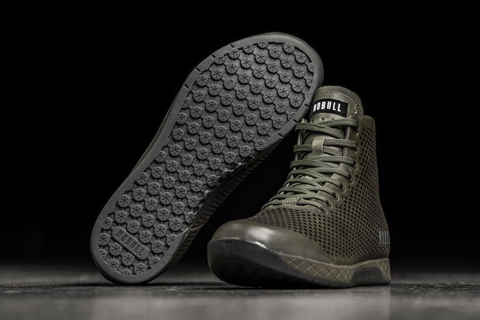HIGH-TOP MOSS LEATHER TRAINER (MEN'S)