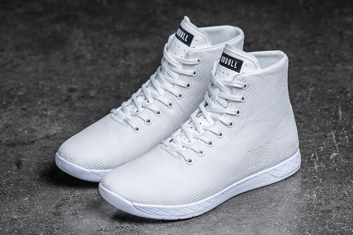 HIGH-TOP WHITE TRAINER (WOMEN'S)