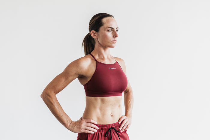 HIGH-NECK SPORTS BRA (SOLID)