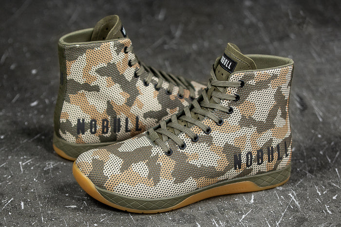 HIGH-TOP WOODLAND CAMO TRAINER (MEN'S)