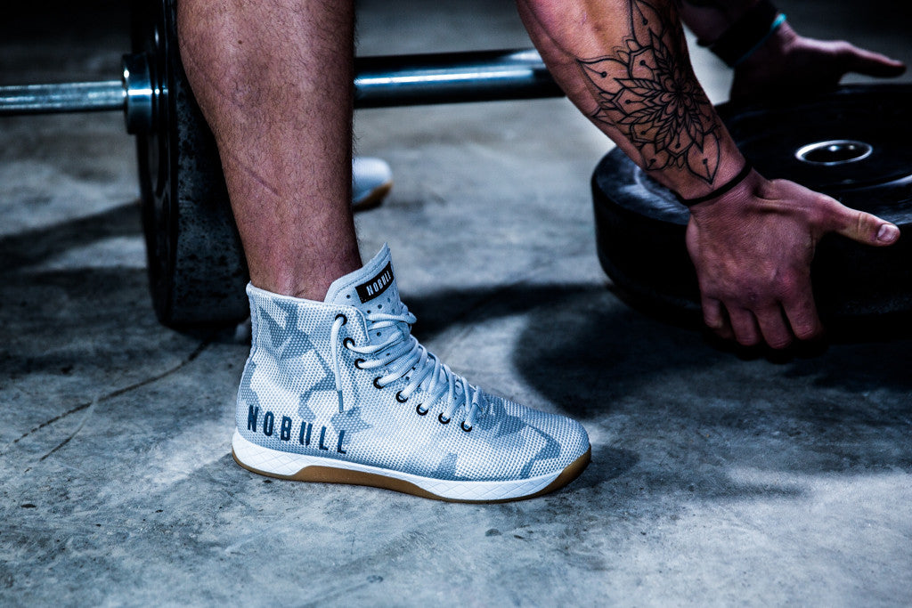 HIGH-TOP WHITE CAMO TRAINER (MEN'S)