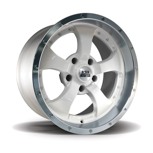 Black Mountain Gloss White Polished Alloy Wheel 17X9