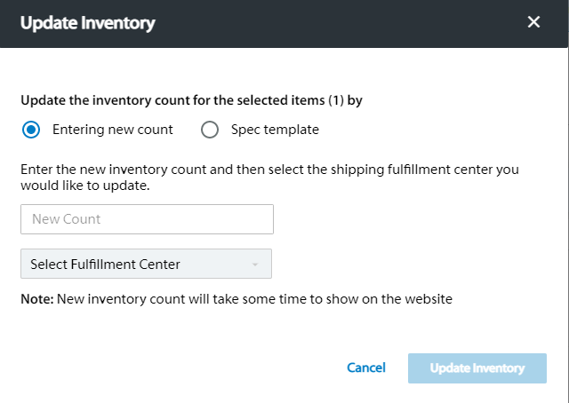 updating inventory on walmart marketplace