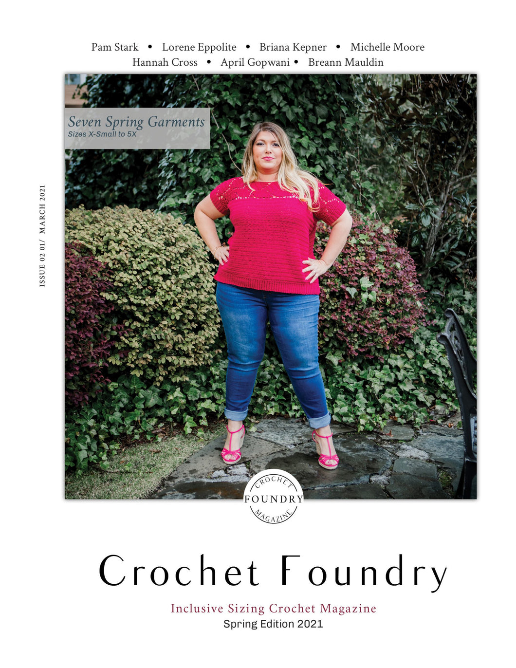 cover of the Spring 2021 issue of Crochet Foundry Magazine