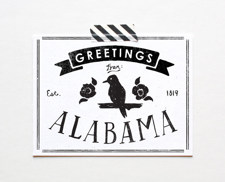State of Alabama Postcard