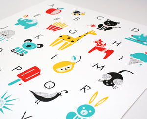 Alphabet Screenprint