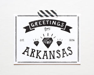 State of Arkansas Postcard