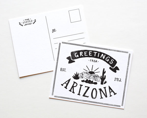 State of Arizona Postcard