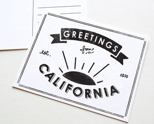 State of California Postcard