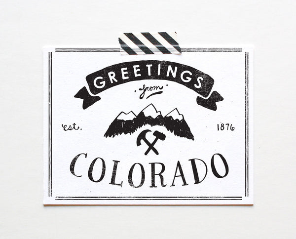 State of Colorado Postcard