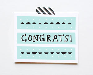Deco Congrats Card