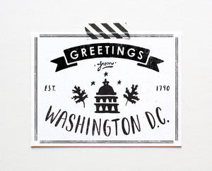 Washington D.C. Postcard