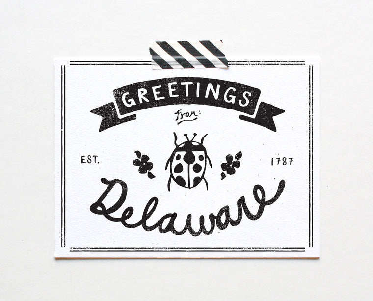 State of Delaware Postcard