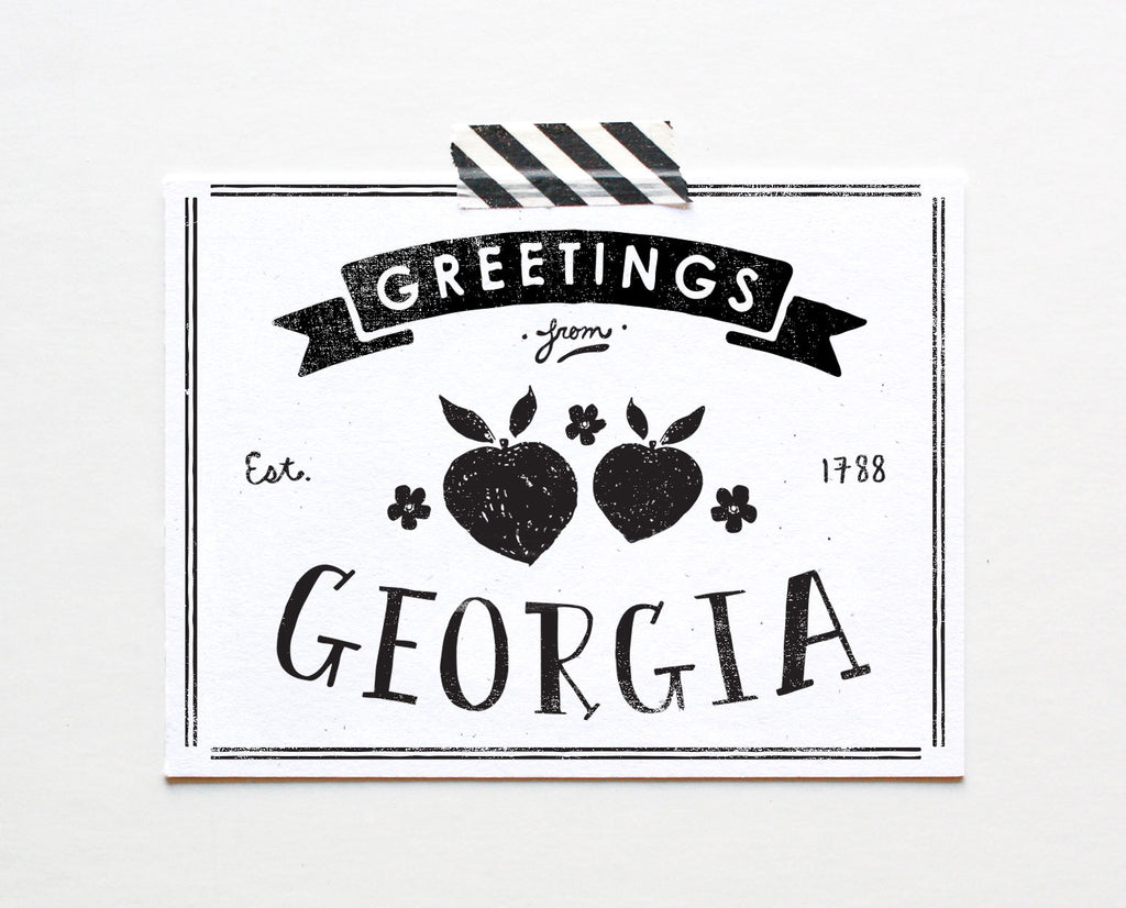 State of Georgia Postcard