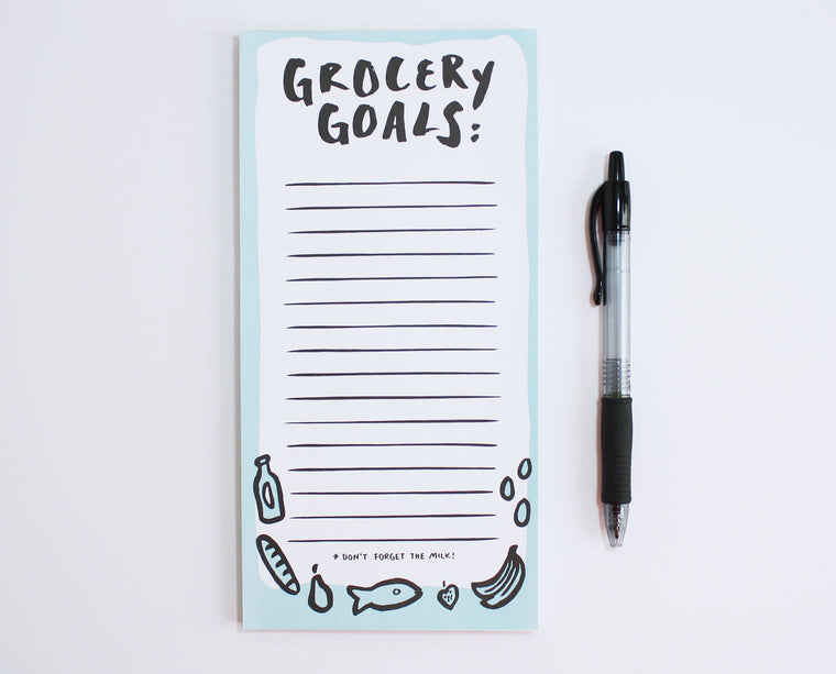 Grocery Goals Market List Pad